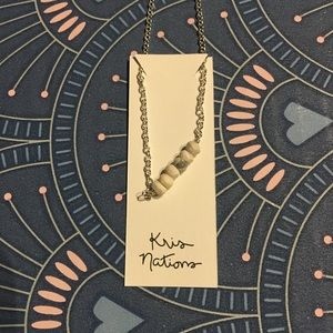 kris nations mystic bar necklace howlite